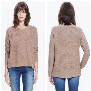 Madewell Landmark Texture Sweater Pullover Hi-Lo